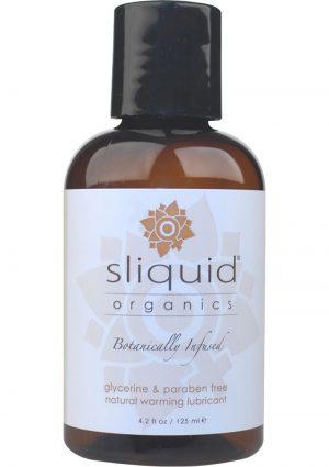 Sliquid Organics Sensation Botanically Infused Naturally  Warming Lubricant 4.2 Ounce