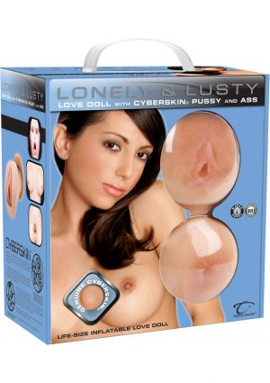 Lonely And Lusty Inflatable Love Doll With Cyberskin Pussy And Ass Masturbators Waterproof Flesh