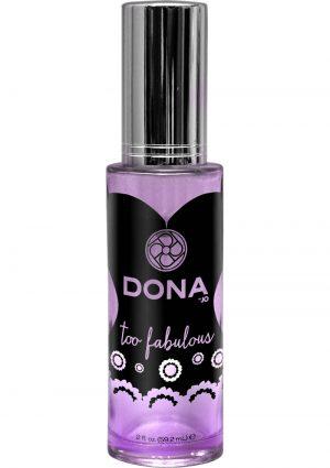 Dona Aphrodisiac and Pheromone Infused Perfume Spray Too Fabulous 2 Ounce
