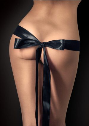 Ouch Silky Ribbon For Naughty Pleasure Black 65.7 Inch