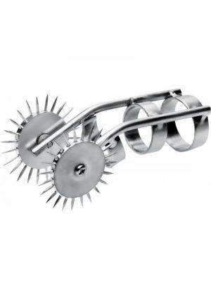 Master Series Spikes Double Finger Pinwheel Metal 3.75 Inch