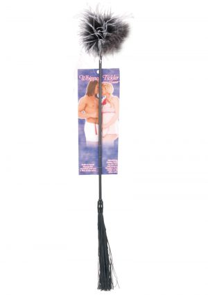 Whipper Tickler Feather And Rubber Tickler Black