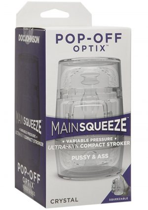 Main Squeeze Pop Off Optix Pussy and Ass Stroker Crystal 4 Inch