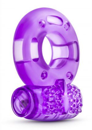 Stay Hard Vibrating Cock Rings Disposable Purple 2 Each Per Pack