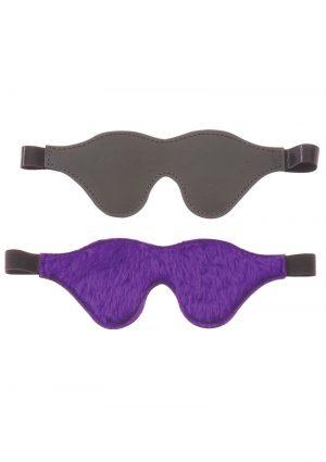 Purple Fur Line Classic Cute Blindfold