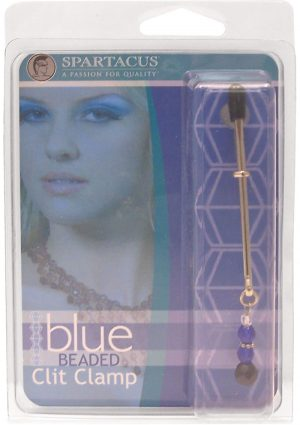 Beaded Clit Clamp With Tweezer Tip Blue