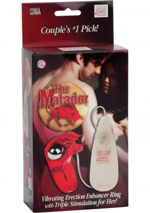 The Matador Vibrating Erection Enhancer Ring Red