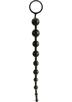 Superior X 10 Beads Graduated Anal Beads 11 Inch Black