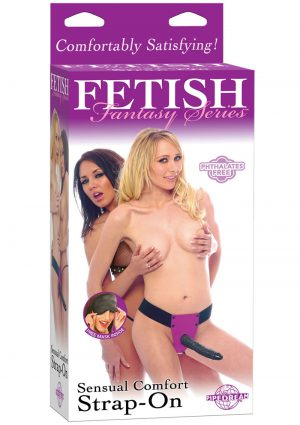 Fetish Fantasy Sensual Comfort Strap On 8 Inch Purple