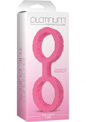 Platinum Premium Silicone The Cuffs Pink Large
