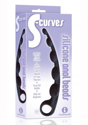 The 9 S-curves Anal Beads Silicone Non Vibrating