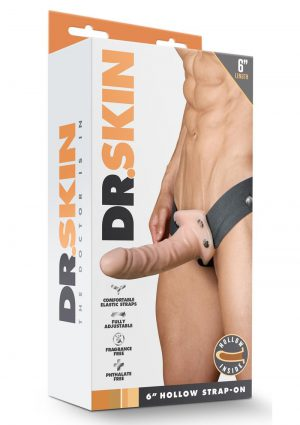 Dr Skin Hollow Strapon 6 inch Non Vibrating