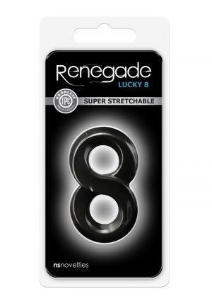 Renegade Lucky 8 Black Cockring