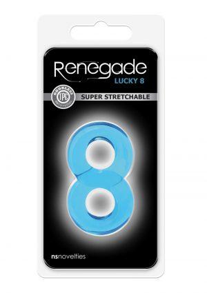 Renegade Lucky 8 Blue cockring
