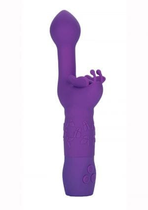 Come Hither Butterfly Kiss Silicone Gspot And Clitoral Stimulator Waterproof Purple 8 Inch