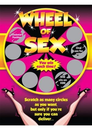 Wheel Of Sex Scratcher Game Ticket