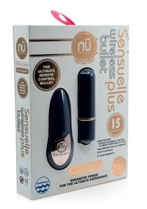 Sensuelle Wireless Remote Bullet Plus Rechargeable Waterproof Blue
