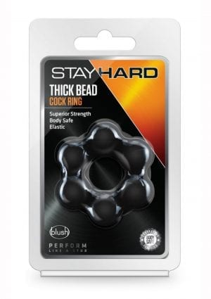 Stay Hard Thick Bead Cring Blk