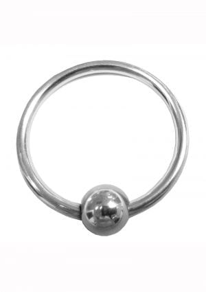 Rouge Stainless Steel Glans Ring W/ball