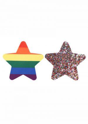 Peekaboo Pride Rainbow Glitter Stars Pasties – Rainbow