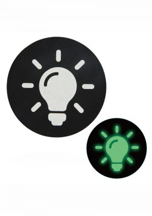 Peekaboo Glow In The Dark Light Bulb Pasties – Black/Green