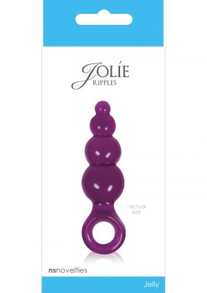 Jolie Ripples Jelly Anal Plug Mini Plum