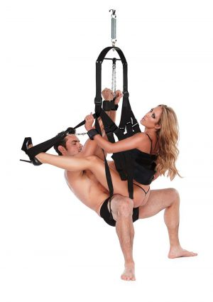 Whipsmart Bondage Pleasure Swing – Black
